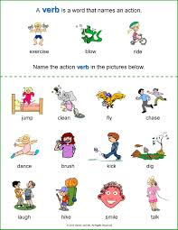 action words worksheets for kindergarten verb worksheets for