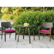 small garden bistro table and chairs bermuda chair lounge wicker outdoor homeinfatuation com