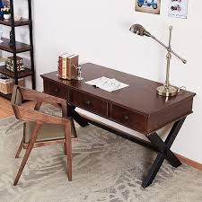 Wood Computer Desk Country Old Retro Wood Desktop Computer Desk With Drawers Creative