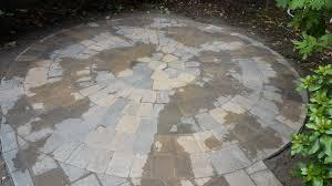 Circular Paver Patio Paver Patio Paver Walkway And Step Four Seasons Pdx