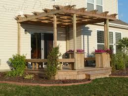 Custom Pergola Plans by Download Decks With Pergola Garden Design