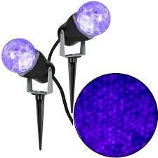gemmy 10 24 in projection kaleidoscope led purple light stake 2