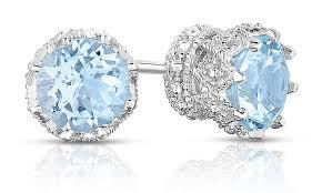 aquamarine stud earrings 160 cttw aquamarine studs groupon goods aquamarine stud earrings