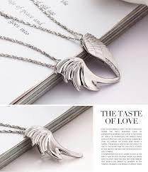 wings necklace pendant images Angel wings quot 925 sterling silver couples necklaces pendants jpg