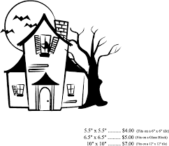 Easy To Draw Halloween Pictures by Haunted House Block Polka Dot Thoughts