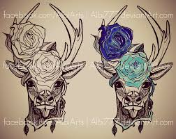 deer tattoo by albi777 on deviantart