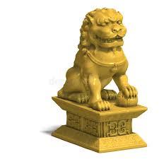 gold foo dogs golden foo dog stock illustration illustration of lucky