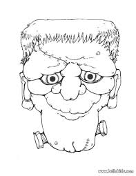Scary Halloween Monsters by Halloween Scary Masks Coloring Pages Coloring Home