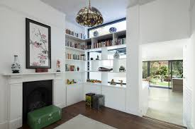 room divider shelves living room traditional with architect
