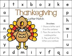 thanksgiving letter match free by pocketful of centers tpt