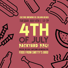 4th of july backyard bbq culture brewing co