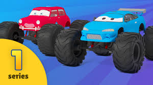 all monster truck videos exciting educational cartoons for kids from bambo jambo
