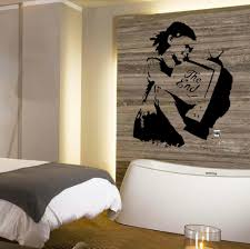 online buy wholesale banksy wall decor from china banksy wall banksy girl television hug the end wall art transfer sticker poster decalsticker for wall decoration