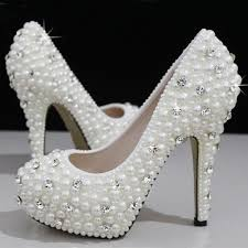 wedding shoes size 12 fashion luxurious pearls crystals white wedding shoes size 12 cm
