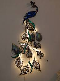 Diy Home Decor Indian Style Home Decor Products Led Peacock Designer Wall Decor Manufacturer