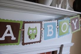 Owl Theme by Owl It U0027s A Boy Banner Owl Baby Shower Banner Owl Theme