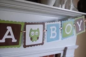 owl it u0027s a boy banner owl baby shower banner owl theme
