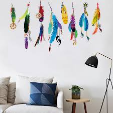 feathers wall decals stickers bedroom girls room wall decals