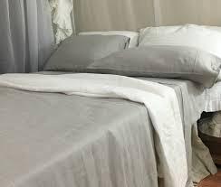 light grey bed skirt light grey linen sheets set handcrafted by superior custom linens
