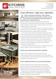 about us kitchens unlimited