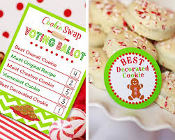 amanda u0027s parties to go cookie swap printable freebie