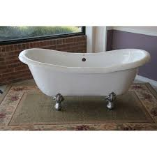 duchess 68 inch double slipper clawfoot tub