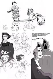 hond and tangled sketches by silent soliloquy88 on deviantart