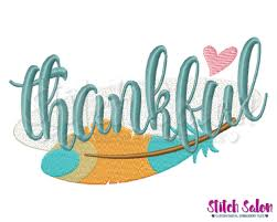 thankful feather thanksgiving embroidery design files for shirts