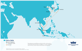 Route Map by Overseas Shipping Route Maps L Wallenius Wilhelmsen Logistics