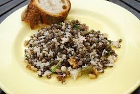 cuisiner les lentilles vertes salade de lentilles vertes et riz végémiam la référence des