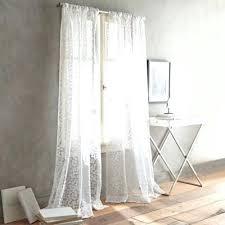 White Sheer Curtains White Semi Sheer Curtains Semi Sheer Two Way Rod Pocket Curtain