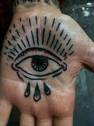 eye tattoo on palm hand 2 tattoos book