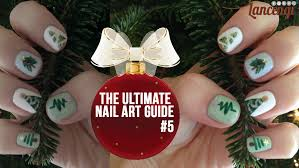 christmas tree nail art easy u0026 cute nail art for beginners 18