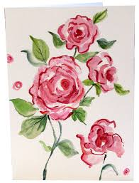 painting greeting cards in watercolor painted watercolor greeting cards pink roses not flickr