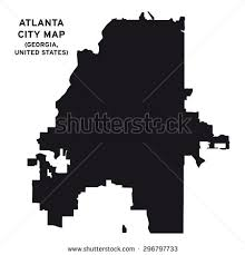 atlanta city us map atlanta city map vector stock vector 296797733