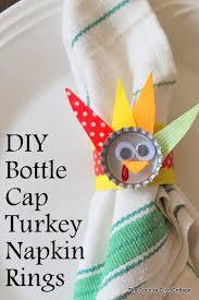 turkey napkin ring diy bottle cap turkey napkin rings the country chic cottage