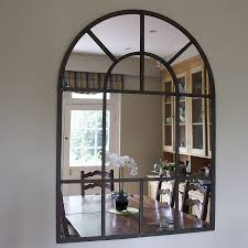 Exterior Cool Arched Mirror Design Ideas With Rustic Arched
