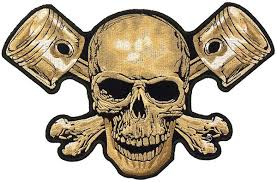 skull pistons patch skull back patches