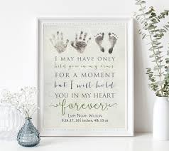 infant loss gifts personalized baby memorial gift print with actual handprints and