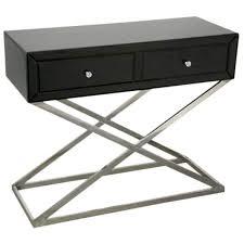 black venetian mirrored console table cross leg free delivery coco54