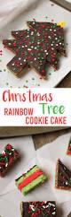 christmas tree rainbow cookie cake
