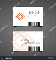 gift card business business gift card design barcode background stock vector