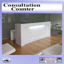 Timber Reception Desk Consultation Counter Large Reception Counter For Modern Office