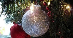 silver glitter tree ornaments two