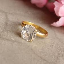 white topaz engagement ring buy 18k gold ring white topaz wedding ring engagement ring online