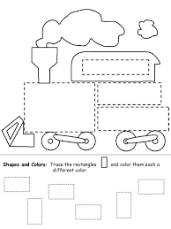 shapes train for kids children will have a great time tracing and
