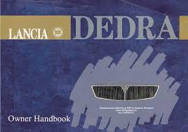 lancia dedra 1991 owners manual pdf
