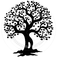 cartoon spring tree silhouette by clairev toon vectors eps 41199