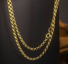 solid gold chain necklace images Buy 60cm l pure solid yellow gold chain necklace jpg