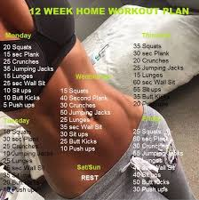 home work out plans 12 week home workout plan health guide 365